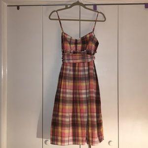 J. Crew plaid summer dress